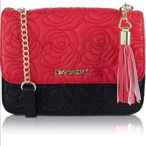 Betsey Johnson Bags - Betsey Johnson Spicy 🌶 Red QUILTED CROSSBODY BAG